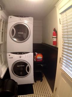 Laundry with Front Load Stackable Washer/Dryer