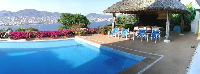 View of the pool and bay