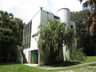 Castle with Pool in Woods Very Near Gainesville, Micanopy