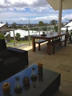 Outdoor dining and living area