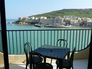 3 bedroomed Seafront Apartment enjoying elevated breathtaking views of Marsalforn Bay