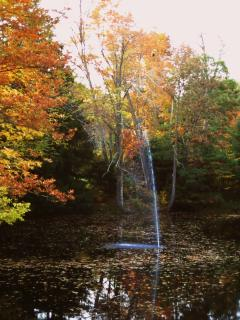 fall- the Mill Pond fountain