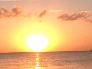 Beautiful sunsets and view of bay and boats, Key Largo