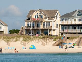 Porpoise Place 31 Oceanfront! | Private Pool, Hot Tub, Elevator, Jacuzzi, Fireplace, Internet, North Topsail Beach