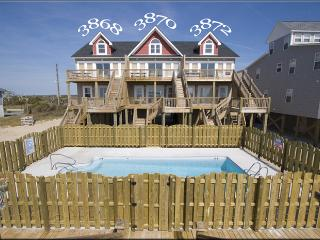 Island Drive 3872 Oceanfront! |Shared Pool, Internet, North Topsail Beach