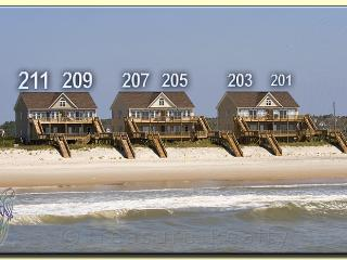 Goldsboro Lane 211 Oceanfront! | Internet, Jacuzzi! New 46 inch TV!!, North Topsail Beach