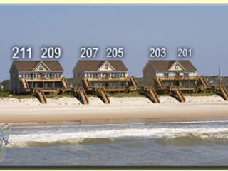Goldsboro Lane 203 Oceanfront! | Internet, Jacuzzi! New 46 inch TV!!, North Topsail Beach
