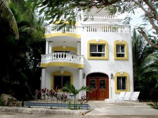 3 bdrm villa in Playacar private Pool & ocean view, Playa del Carmen