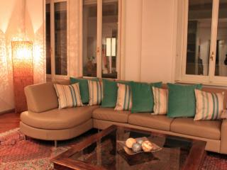 Beautiful Open Living Room with French doors to the private Terraces and Stunning Views of Como