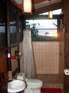 Bathrooms are spacious, well finished, have hot water, and also have a view!