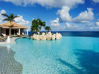 St. Martin Villa 21 Featured Is A Huge Shallow-entry Heated Pool With A Jacuzzi And A Very Large Deck For Sunbathing. - Plum Bay vacation rentals