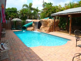 Tropical Pool Home with Water Park and Pavillion, Plantation