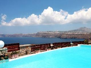 Michaela Residence - Villa on hilltop with amazing views, infinity pool & playful character - Santorini vacation rentals