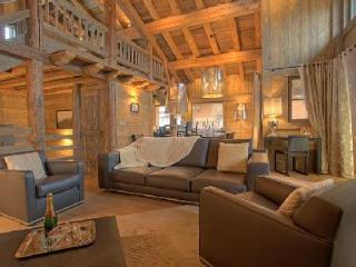 Chalet Tanniere with fireplace and heated plunge pool with Jetstream and jetted tub, Megève
