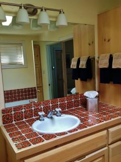 Master Bath with traditional Mexican Tile