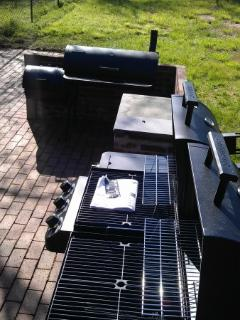 Back patio - grill and smoker
