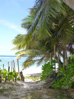 The steps to the Anse Forbans Beach in the Garden