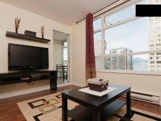 Downtown Vancouver 1br+den water view with parking