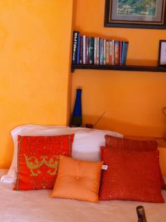 The Orange Room with single bed