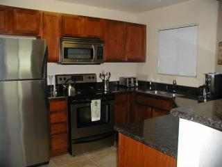 kitchen, granite, stainless appliances