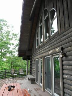 Front of cabin after a summer rain.