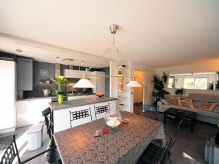 Kitchen, living & dining area / Cuisine & piece a vivre