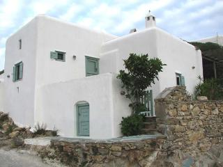 An Authentic Fully Renovated Cycladic stone House with Garden Near the Beach, Ano Mera