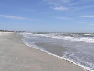 Beach in front of Hilton Head Resort is as nice as any on the Island with no crowds