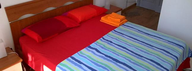 The double bed in the room