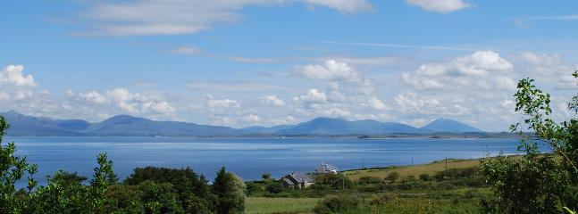 View of Clew Bay from front of house