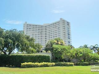Outstanding views of Crescent Beach from every room in the 2 bed 2 bath condo, Marco Island