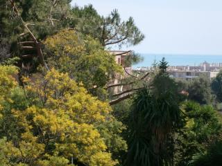 Large Studio with Deep Sea View Terrace, Pet-Friendly, Cagnes-sur-Mer