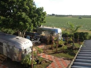 Vintage  Airstream near Everglades, Homestead