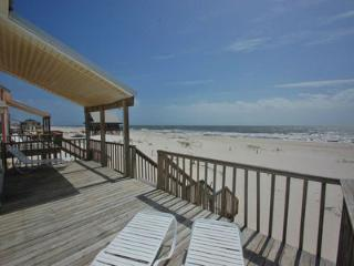 Relax and Enjoy the Beach Front Partially Cover Deck