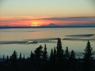 Sunset from living room - THIS HOME IS NOT AVAILABLE - Anchorage - rentals