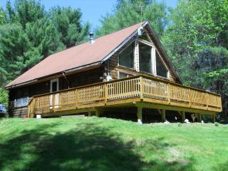 Log-style vacation home with hot tub and game room - Bethel vacation rentals