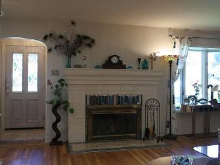 Living Room with view of Entrance and Fireplace