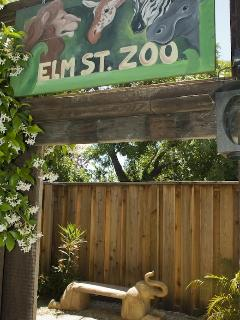 'Elm Street Zoo' - - Elephant Bench and Fire/Conversation Pit
