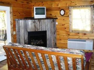 TreeHouse Cabins hot tub with great mountain view, Hot Springs