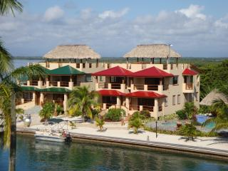 A Stunner in Belize Townhome with Rooftop Palapa on it's Own Island, Placencia