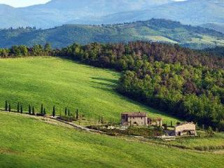 Eco-friendly Podere Scopicciolo with infinity pool, pizza oven and welcome dinner, Sienne
