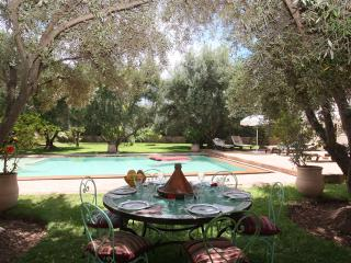 Adobe Pastoral Villa with 2 Pools, Opulent Gardens, Marrakech