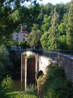 Najac is situated on a ridge with beautiful River Aveyron winding below- many activities based here