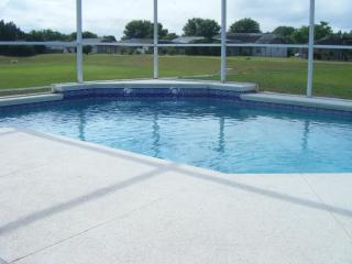 Pool with view to rear