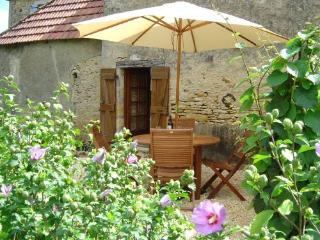 Terrace of Passiflore our two bedroom gite