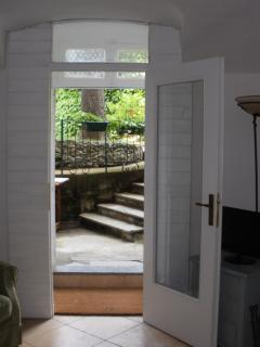 The front door that leads to your private garden and lakeside mooring.
