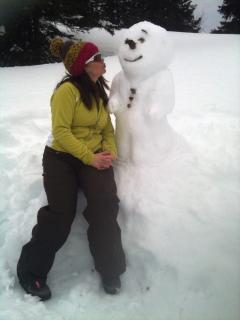 Enjoy a walk in the snow and make new friends!