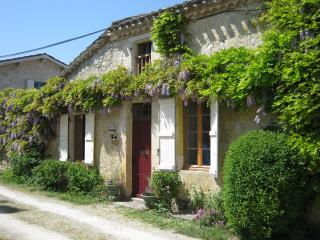 Old cottage by castle; garden; pool; sleeps 8, Larressingle