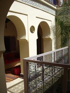 Traditional arches to one of the sitting areas.