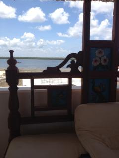 Rooftop view whist relaxing on the Lamu bed/seater.